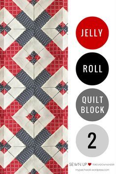 Video tutorial: quick and easy jelly roll quilt block 2