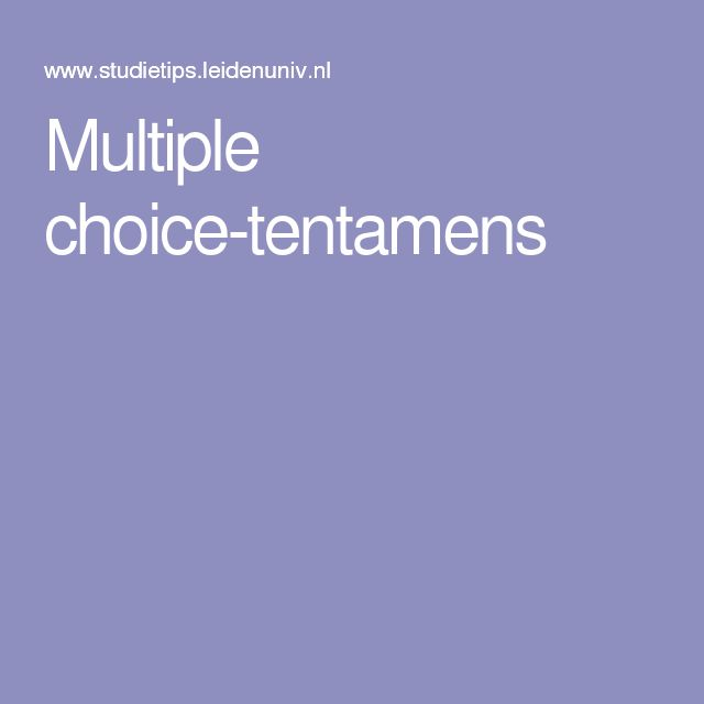 Multiple choice-tentamens