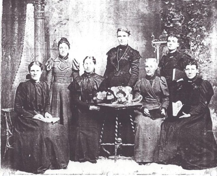 Midwives: Elizabeth Jane Price - 2nd from left and Dr. Ellis Shipp - 5th from left (probably about 1895)
