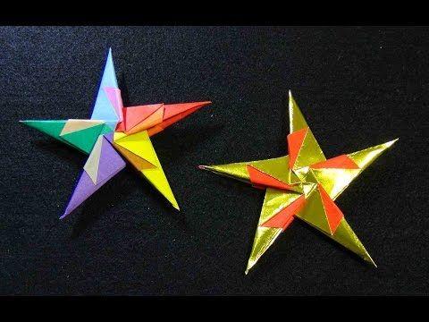 折り紙 かっこいい 五方 手裏剣 Origami Ninja Star 5 - YouTube