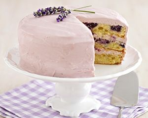 Blueberry and lavender cake