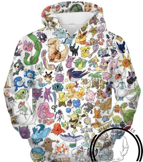 Pokemon - All 151 Pokemon Hoodie - Pullover 3D Hoodie