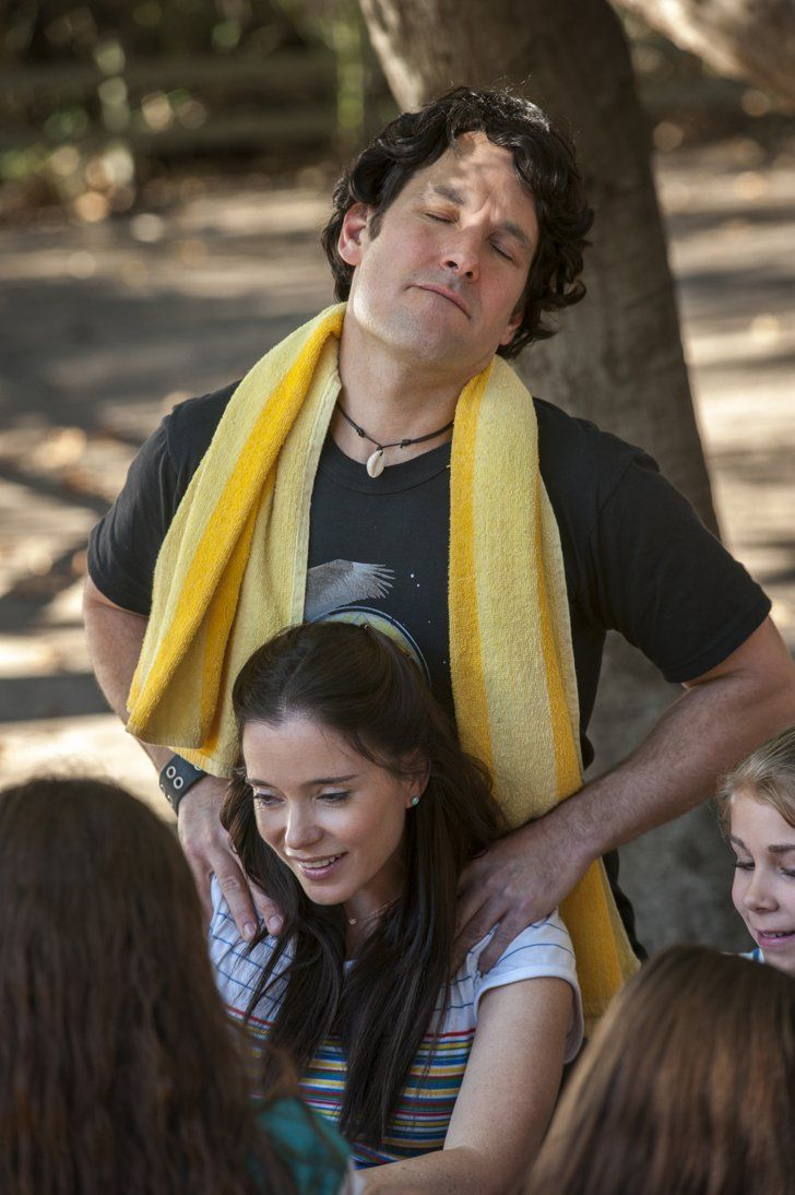 Pin for Later: Return to Camp Firewood With the First Pictures of Netflix's Wet Hot American Summer Show  Looks like Andy (Paul Rudd) and Katie (Marguerite Moreau) are going strong . . . for now.