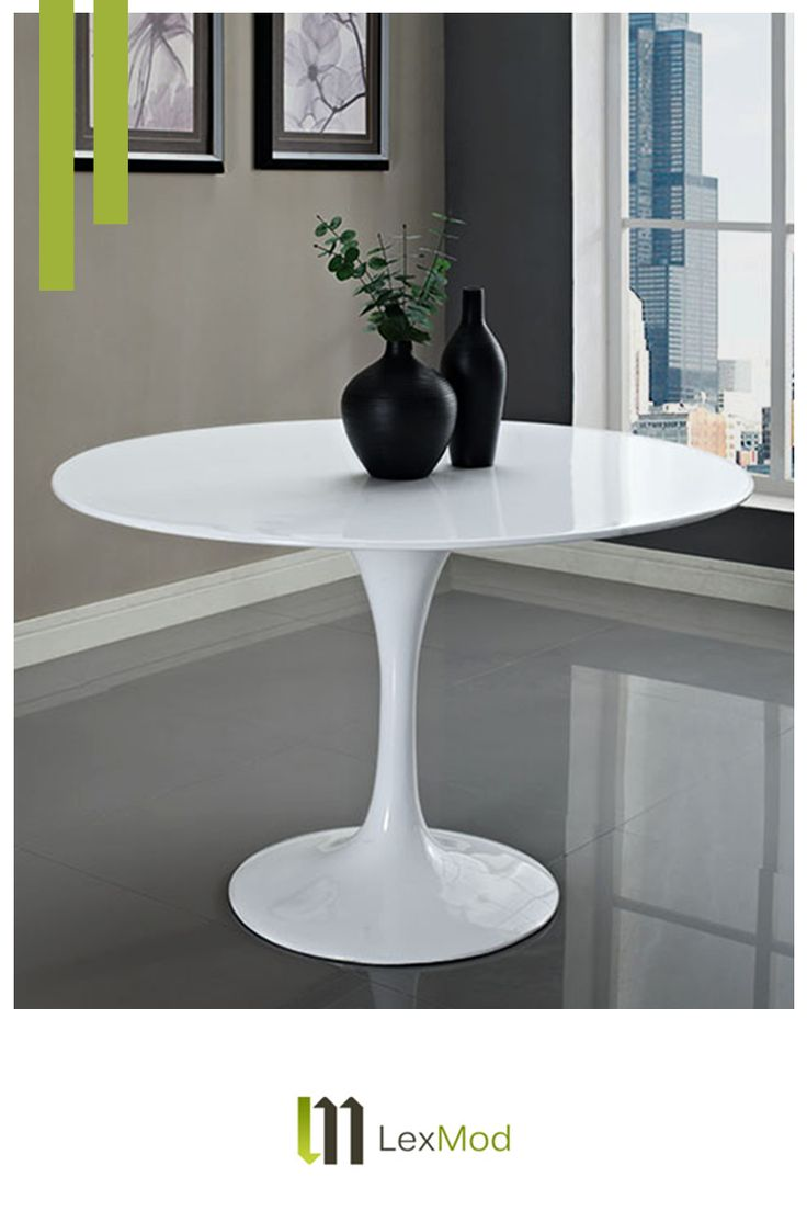 Modernize your kitchen with the Lippa Table by Lexmod - a timeless classic that has redefined homes for over 60 years.  Circle is the new square. Order today and get free shipping!