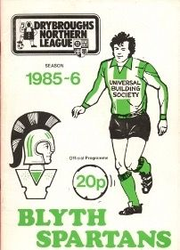 Blyth Spartans programme cover from 1985-86.