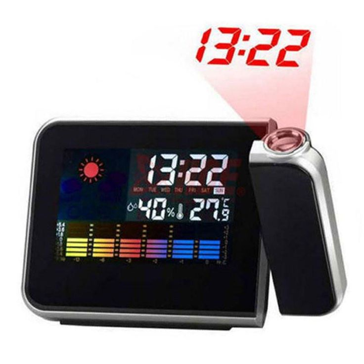Attention Projection Digital Weather LCD Snooze Alarm Clock Projector Color Display LED Backlight Hot Sale