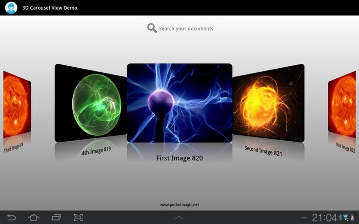 A 3D Carousel View for Android « PocketMagic