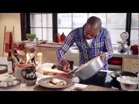 Recept Eend met witloofpuree en gevulde champignons met veenbessen - Colruyt - YouTube