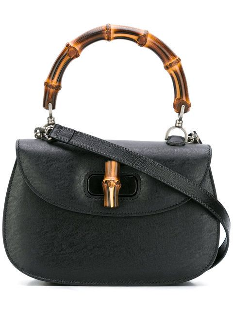 Shop Gucci Bamboo Classic top handle shoulder bag.