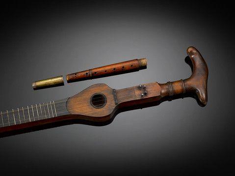 Antique Cane, Antique Musical Instruments, System Cane ~ M.S. Rau Antiques