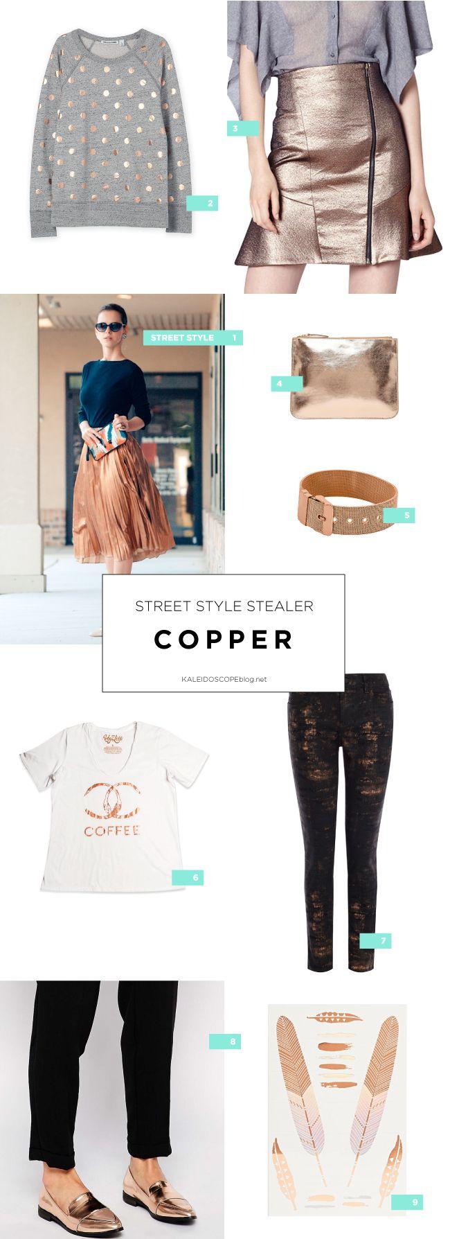 Street Style Stealer: Copper Fashion Inspiration Kaleidoscope Blog