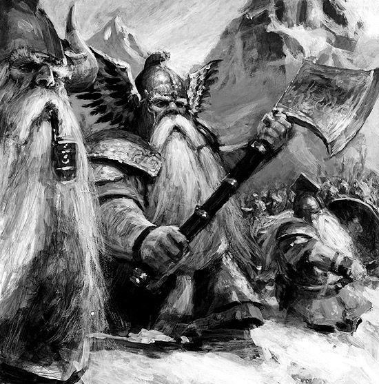 Nains, par (auteur inconnu), in Warhammer Battle 6e édition livre d'armée Nains, par Games Workshop