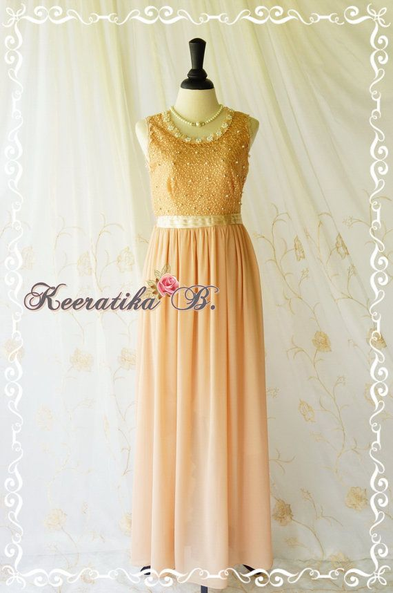 Goddess Golden Brown Lace Dress Prom Party Dress Wedding Bridesmaid Dress Beads Embroidered Lace Top Dress Gold Lace Cocktail Dress on Etsy, $69.90