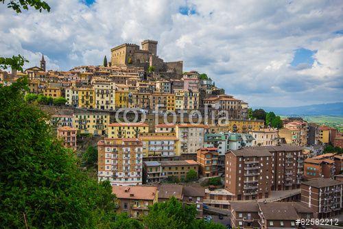 Photo of Soriano nel Cimino in Lazio. #SorianoNelCimino #Lazio #Village #Medieval #Castle #Fortress #Italy #Travel #Tourism #City #Historic