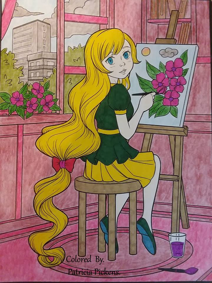 Artist Jade Summer Coloring Book Anime Coloring Books