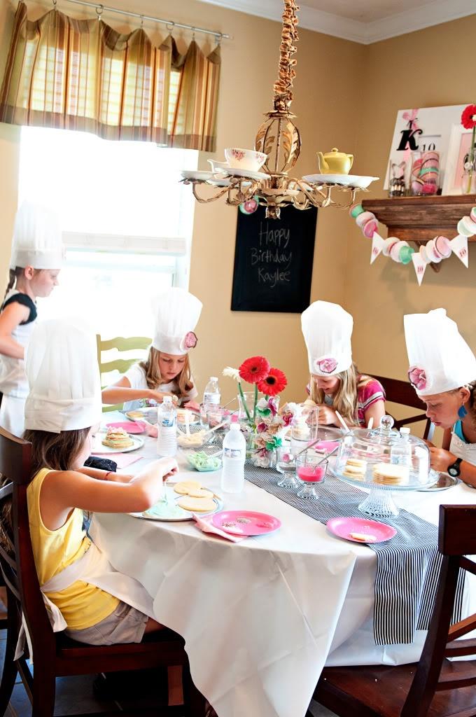 Little girl chef birthday party.  Neat idea