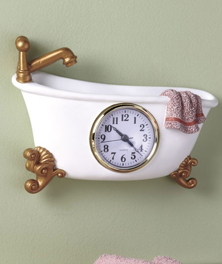 Themed Wall Clocks Will Brighten Up Your Guest Bath Or Laundry Room.Keep  Your Eye On The Time With Fun Style. Select From The Bathroom Clock (