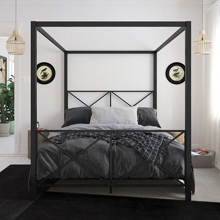 Bed Frame, headboard, Chic, modern, luxury, farmhouse ... on Modern Boho Bed Frame  id=34813