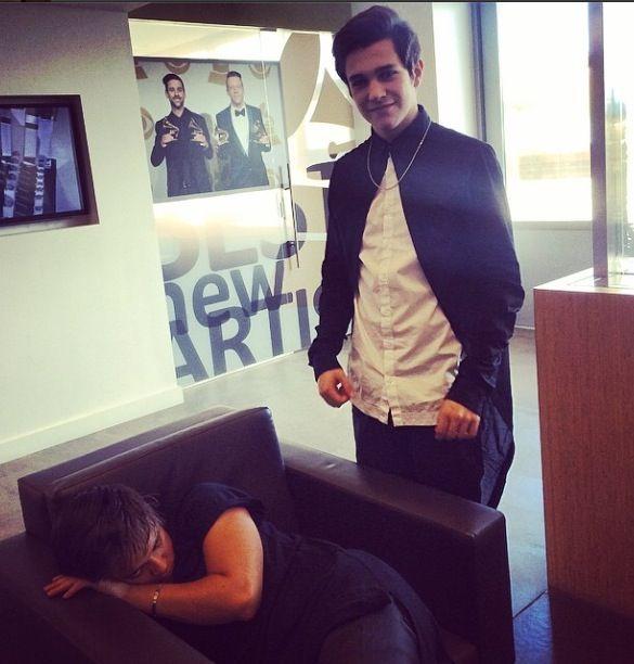 #alexconstancio having a sleep before ustream