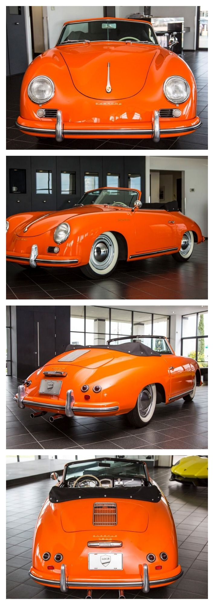 1955 Porsche 356 Continental Cabriolet. Words cannot describe the beauty and rarity of this sportscar  #FlashbackFriday