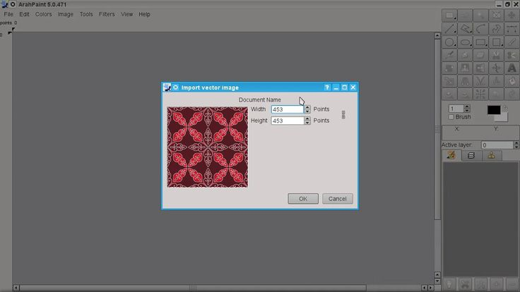 The video shows the importing of vector file into ArahPaint 5 (free, open source software | requires X11)