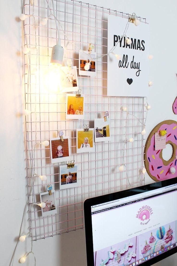diy fotowand selber machen & schreibtisch deko basteln   home office
