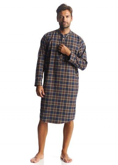 mens brushed cotton nightshirt