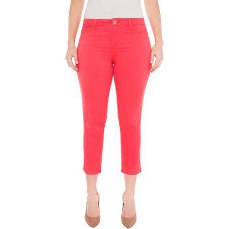 Plus Size Jordache Women's Plus Super Skinny Crop, Size: 22W, Orange