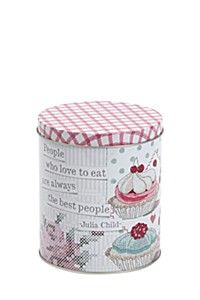 TAPESTRY CUPCAKE CANISTER