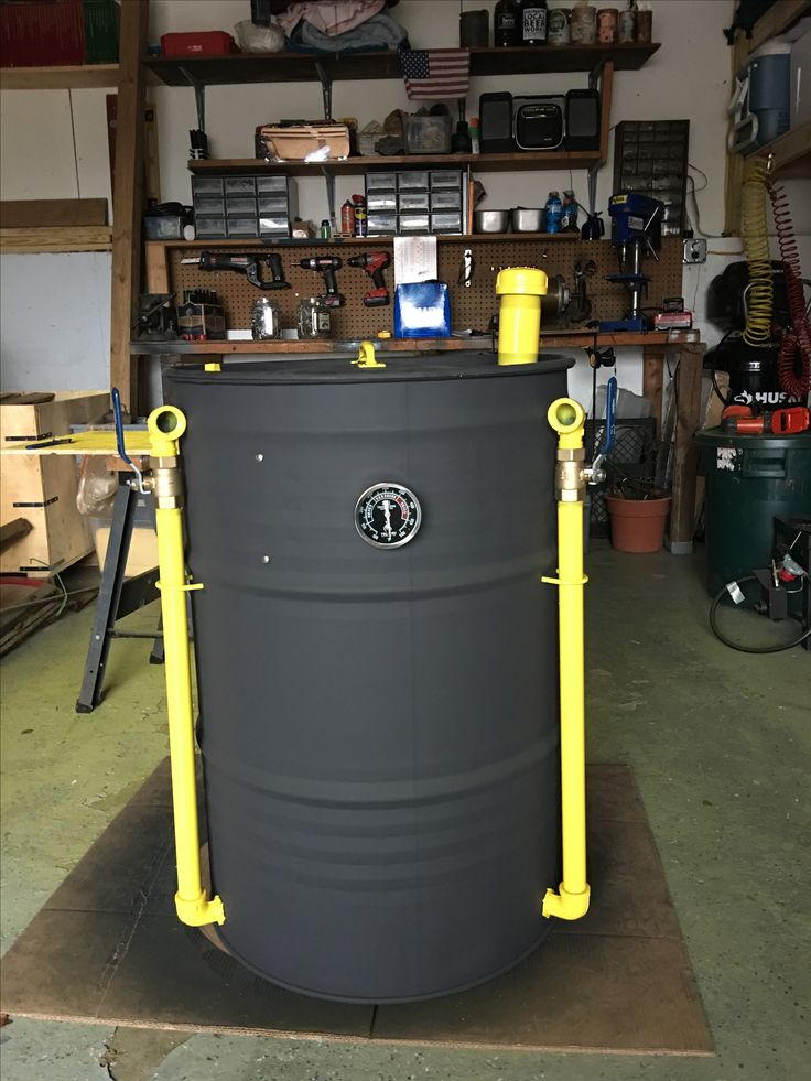 My Ugly drum smoker