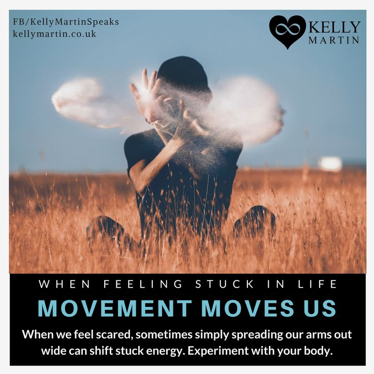 Movement helps shift stuck energy in life and in the body. Have you tried it when you are feeling scared?  #quote #selflove #successtrain