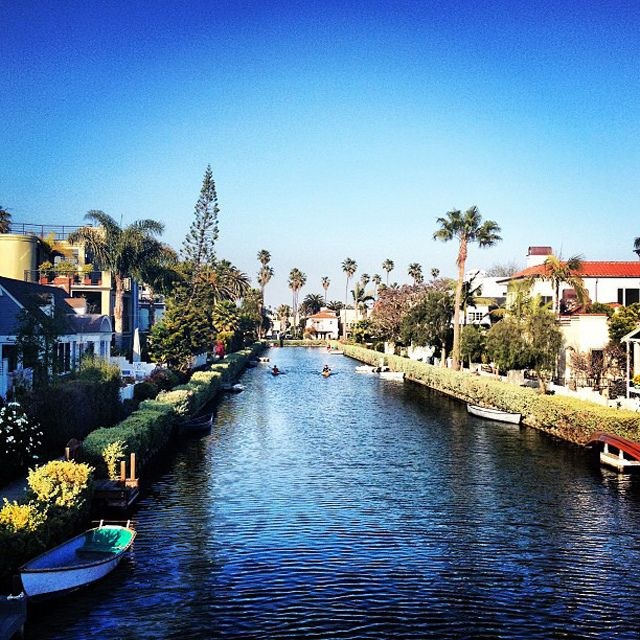 Venice Canals, Los Angeles, California. Great place to walk. We always seem to park way out here when we visit the beach.