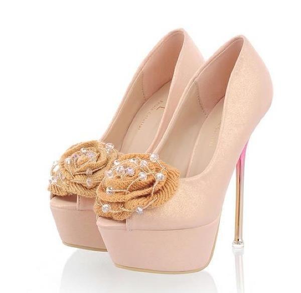 Свадебные туфли на плотформе