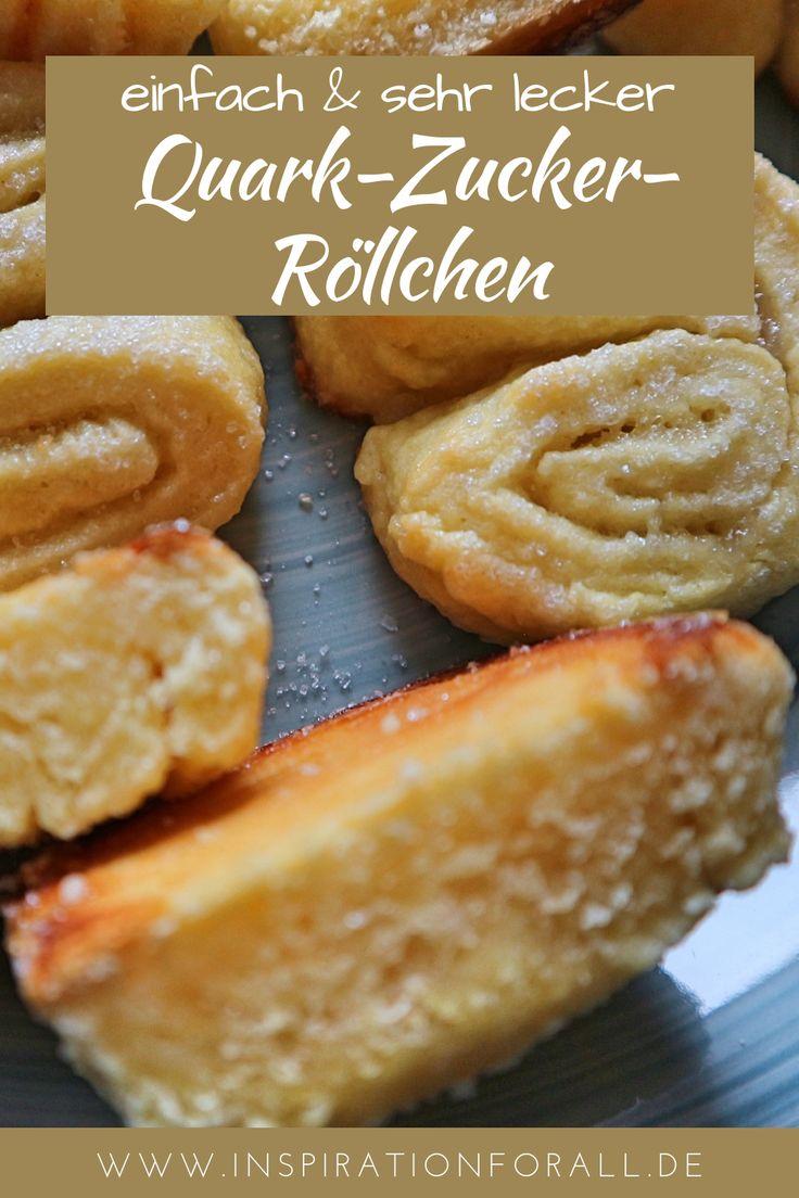 Die Quarkzuckerbrötchen bestehen aus einem zarten Teig und schmecken nicht zu …   – Leckere Rezepte von inspirationforall.de – einfach, schnell, besonders