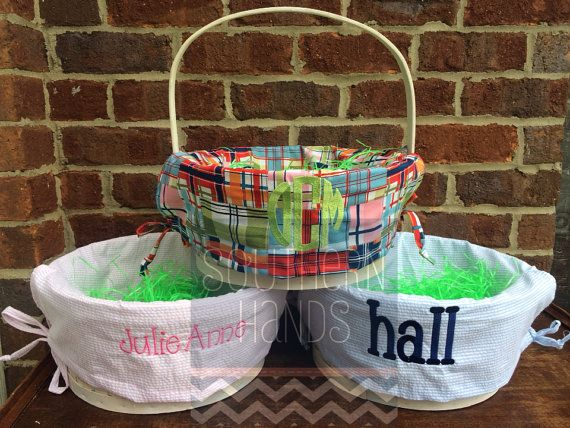 14 best easter basket ideas images on pinterest easter basket hey i found this really awesome etsy listing at https easter gift basketsbasket ideasseersuckermonogrammonogram totegift basket ideasmonograms negle Images