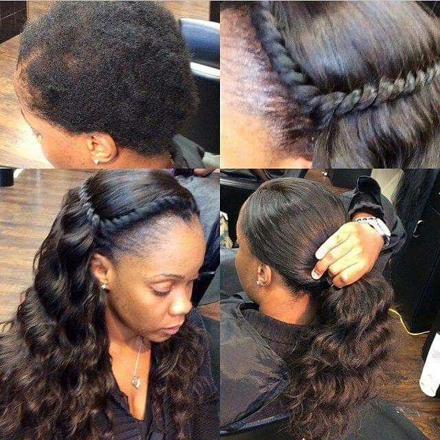 Natural Sew In Sew In Pinterest Hair Styles Hair And Braids