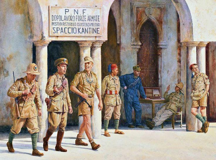 Regio Esercito - Posto di ristoro a Bengasi, 1941