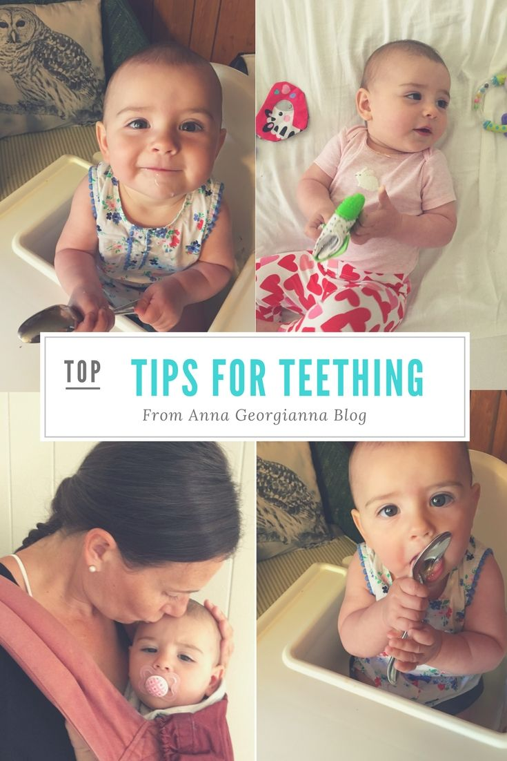 Tips for Teething- Does your teething baby seem uncomfortable? Here are some tips to help and make your little one (and you) feel better.
