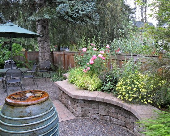 Backyard Planters Ideas stacking retaining wall units is an easy way to build a planter box backyard landscapingbackyard ideasoutdoor Small Backyard Landscaping Pictures Design Pictures Remodel Decor And Ideas Page 52