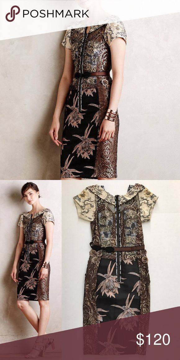 Beguile by Byron Lars Embroidered Brocade Dress New without tags, beautiful dress! Anthropologie Dresses
