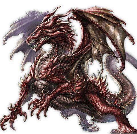 Fierce red dragon