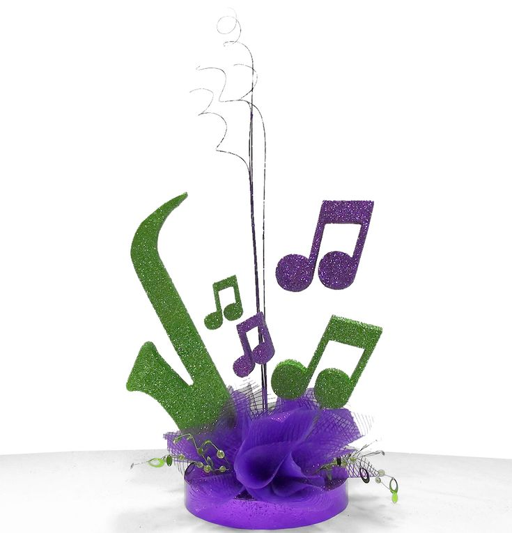 Jazz Player Centerpiece - a DIY kit that can be ordered in any colors for a Jazz Music Theme Party or Festival. Save money by assembling yourself! www.awesomeevent.com//Jazz-Player-Centerpiece-P2299.aspx