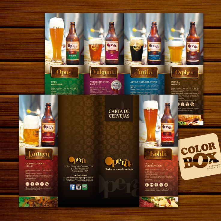 Mini Catalogue Design For A Beer Factory Cerveja Opera In So Paulo