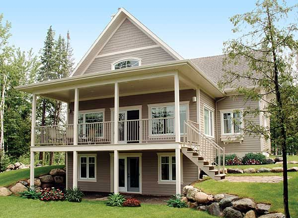 actual build - definitely need to jazz it up with color,  shingles, stone, and thinker columns and railings. such potential...