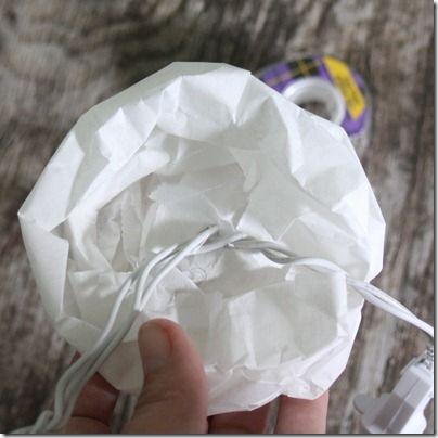 paper bag lights: Flower Lights, Paper Bag Flowers, Flowers Lights, Paper Bags Flowers