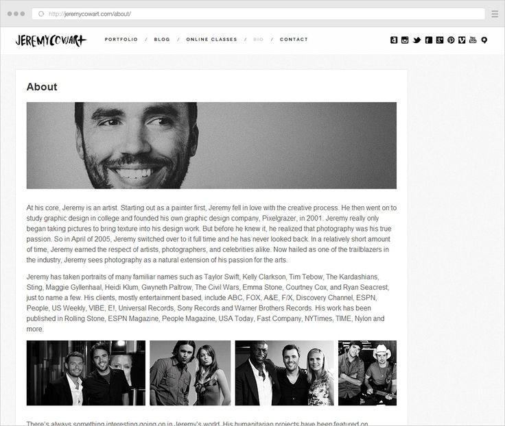 """How to write your photography """"About"""" page www.foregroundweb.com"""