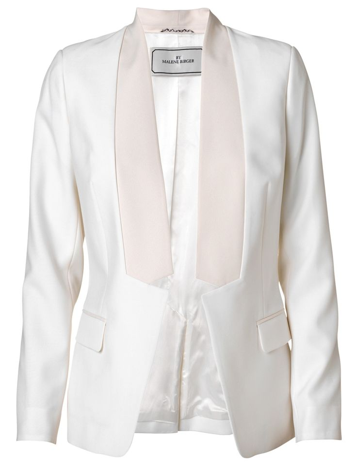 By Malene Birger | Visala White Blazer with Contrast Lapel | GIRISSIMA.COM