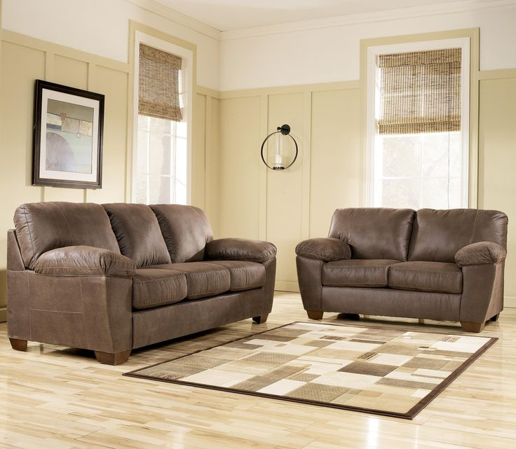 Family Room Amazon   Walnut Sofa With Pillow Arms By Signature Design By  Ashley   Lapeer