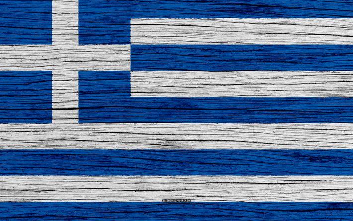 Download wallpapers Flag of Greece, 4k, Europe, wooden texture, Greek flag, national symbols, Greece flag, art, Greece
