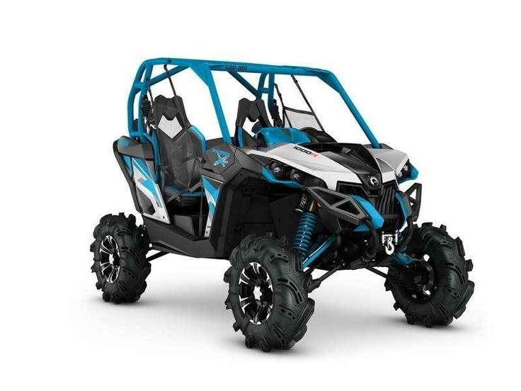 New 2016 Can-Am Maverick X mr 1000R Hyper Silver / Black / Octane Blu ATVs For Sale in North Carolina. Fully equipped and powerful to get you in the mud, and out.